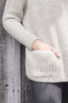 ash pullover by pam allen / from plain & simple: 11 knits to wear every day / in quince & co. owl, color elf