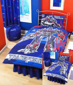 bedrooom Theme - Transformers Bedding and Bedroom Decor For Boy's Bedroom
