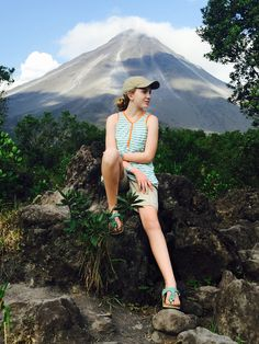 Arenal Volcano, Costa Rica. Lovely tank tunic for girls and tweens