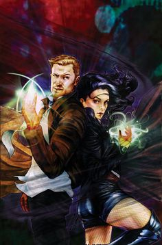 Constantine and Zatanna by Cat Staggs