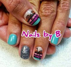 BLTMAUI Nails by B #nailart #handpainted #nailsbyb #gelpolish