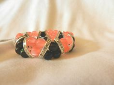Hey, I found this really awesome Etsy listing at https://www.etsy.com/listing/240488901/new-orange-black-frosted-beads-stretch