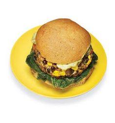 Black Bean-Corn Burger: Recipes: Self.com