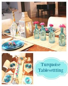 Vibrant Turquoise is Great Color for Entertaining