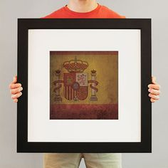 Spain Flag   Flags have been used for identity and heritage for centuries, and City Prints carries on the tradition with our flag series. Flags not only represent the country, state, or city – they represent every individual who calls it home. Rep your region with a fine art print from City Prints – truly the perfect personalized gift.