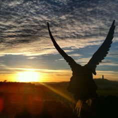 Sunset, Wallace monument in the distance