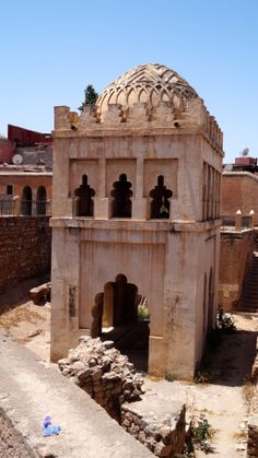 This structure I was advised one of the first buildings in Marrakesh. Nowadays just resting while funds gather for restoration