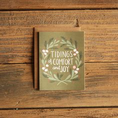 Tidings of Comfort and Joy Illustrated Card by 1canoe2