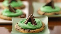 Mint Candy-Filled Cookies recipe from Pillsbury. Happy St. Patrick's Day cookies!  ;  )