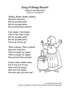 1000 images about strega nona party on pinterest pasta for Tomie depaola coloring pages