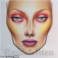 Beautiful Face Chart by @AsaKarlsten #makeup #FaceChart