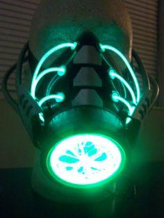 cosplay gas mask | ... PLASMA led light gas mask respirator, rave, gothic, ebm, cosplay