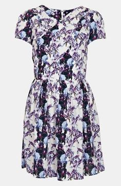 Great print! Topshop 'Florence' Iris Print Dress (under one hundred dollars)