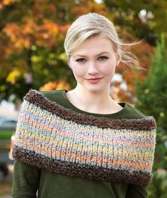 Warm Shoulder Cozy Free Knitting Pattern in Red Heart Yarns