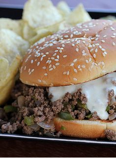 This recipe is a new twist on an old classic. Philly Cheese Steak Sloppy Joe, a combination of your favorite Philly Cheese Steak and Sloppy Joe Ingredients. #foodporn #foodgasm  #snackgasm http://livedan330.com/2014/10/10/philly-cheese-steak-sloppy-joe/