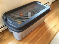 DIY chick brooder box from Rubbermaid tote. Cat proof. Very sturdy and easy diy!