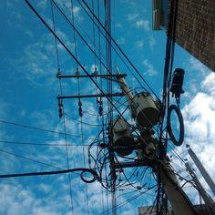 revstiles Jeju skies, electrcity poles. No filter. / #골목 #골목길 #설비 #제주 / 2013 07 20 /