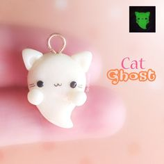 Hey guys!! So I don't usually make Halloween charms because we don't celebrate it in Australia so there's really no point of me making them but you all know that I LOVE cats, and when I saw a kitty ghost made by @bubussen, I couldn't resist making one myself! I finally used my glow-in-the-dark clay for something and it looks so cool omg (I just had to insert a little picture at the top! ) Hope you like it! ✌ #polymerclay