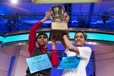 Two National Spelling Bee winners, first time in 52 years... They seem like really good kids. :-)
