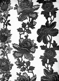Jeanne Paquin Icon,Antique lece flower bans 1907