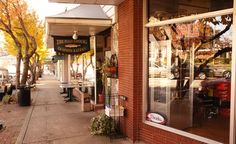 One of the winners of BudgetTravel's Coolest Small Towns in America-- Brevard, NC. I used to work at the restaurant in this picture!