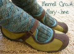 love these Merrell  Circuit mary janes in Moss with these socks