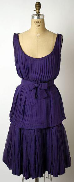 Cocktail Dress, by Antonio del Castillo for the House of Lanvin, ca. 1950-1957, silk.