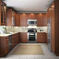 Une cuisine Ikea de pro en U et en bois                                                                                                                                                                                 Plus