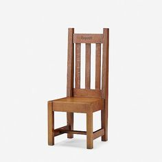 Roycrofthall chair, model c. h × w × d in × 48 × 47 cm)Carved manufacturer's mark to front of crest rail 'Roycroft'. Roycroft, Dining Chairs, Auction, Model, Furniture, Design, Home Decor, Decoration Home