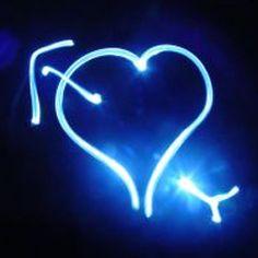blue neon hearts   Myxer - Peaceful Peaces - Heart Blue Neon - Wallpaper