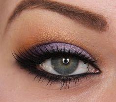 Purple with orange