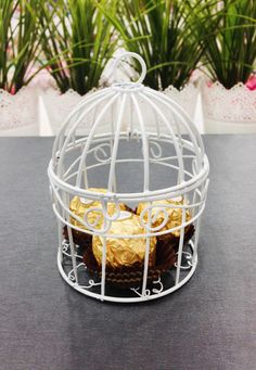⭐️ ⭐️ ⭐️ ⭐️ ⭐️  Great idea for elegant weddings, engagement, baby shower theme events and other specific ceremonies. Are you looking for unique wedding favor boxes or favour boxes, will be amazing choice. Our wire Bird cages perfect for any occasion from wedding to baby showers. It is excellent to add mints and almonds as a favor box. This mini bird cage would look adorable on your wedding reception tables. Customize your bird cage as you like. Bird cage opens up so you can place a candle or…