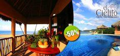 Cabañas El Cielito en Villa de Mar, Jalisco - $650 en lugar de $1,300 por 1 Día & 1 Noche en Bungalow para 2 Personas + Uso de Kayak. Click: CupoCity.com