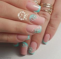 Best nail designs and tutorials for pretty, fashion nails. Classy Nails, Cute Nails, Pretty Nails, Christmas Nail Designs, Christmas Nails, Classy Nail Designs, Nail Art Designs, Nails Design, Hair And Nails