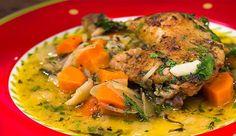 Mustard and White Wine Braised Chicken - Good Chef Bad Chef