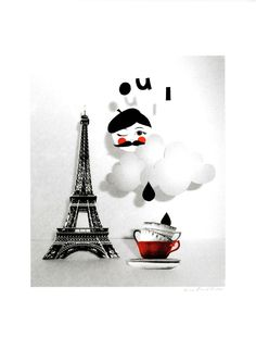 Dear World, You're Pretty! Tour Eiffel, Paris Eiffel Tower, Dear World, Paris Winter, I Love Paris, Pattern Illustration, Photomontage, City Lights, Fabric Patterns