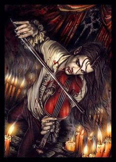This could be Nick... in a mood me thinks!  Victoria Frances Gothic Fantasy art