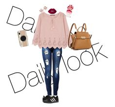 """""""Daily look"""" by lunita2 ❤ liked on Polyvore featuring Comptoir Des Cotonniers, adidas, ZAC Zac Posen, Kate Spade, Marchesa, Marc Jacobs and Lime Crime"""