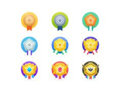 Dribbble - by Timothy Tong Badge Icon, App Design, Flat Ui, Photoshop, Game, Flowers, Canvas Art, Dibujo, Canvases