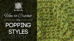 The Popping Cable Stitch :: Crochet Stitch #215 :: New Stitch A Day