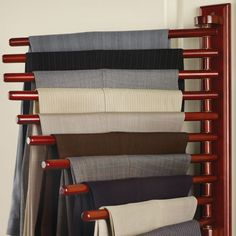 The Closet Organizing 20 Trouser Rack - Hammacher Schlemmer - need for pants and scarves