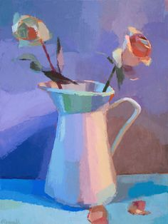 Warm and Cool Roses by Jennifer OConnell