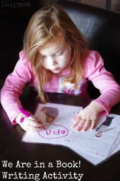 Writing Activities for Kids Inspired by the Mo Willems Elephant and Piggie Book We Are in a Book #mowillems #piggie #elephant #gerald #books #kidlit #kindergarten #firstgrade #secondgrade #classroom #homeschool