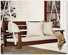 need a swing on the front porch, can't be white cushions though....