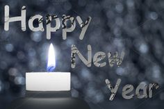 Happy new year greeting card with defocused background, and candle ** Is ONLY a JPG image *** Happy New Year Cards, Happy New Year Greetings, New Year Greeting Cards, Abstract Photos, Tea Lights, Birthday Candles, Creative, Check, Tea Light Candles