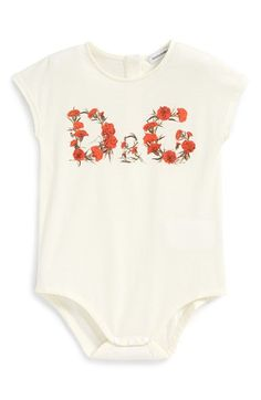 Dolce&Gabbana Logo Print Bodysuit (Baby Girls) | Nordstrom