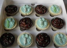 Shirt and Tie Cupcakes by Sugar Ruffles, via Flickr
