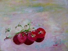 Vine Tomatoes  Original Still Life Oil by RichardHarveyAllsop, $125.00