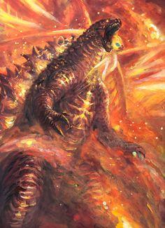 Godzilla (Burning Mode) - Georhizky Godzilla (Burning Mode) Source You are in the right place about All Godzilla Monsters, Cool Monsters, Classic Monsters, Godzilla Vs King Ghidorah, King Kong Vs Godzilla, Godzilla Godzilla, Godzilla Wallpaper, Original Godzilla, Godzilla Tattoo