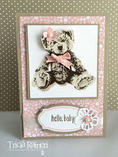 The Speckled Sparrow: Baby Bear Sneak Peek – Male Vs Female – Baak Turn Animals Baby Girl Cards, New Baby Cards, Bear Card, Stampin Up Catalog, Stamping Up Cards, Baby Shower Cards, Baby Scrapbook, Baby Kind, Kids Cards